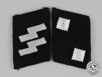 Germany, SS. A Set of Waffen-SS Oberscharführer Collar Tabs