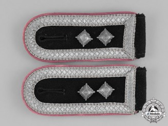 Germany, SS. A Set of Waffen-SS Artillery Hauptscharführer's Shoulder Boards