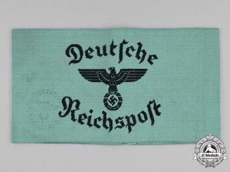 Germany, Reichspost. A Reichspost (Imperial Mail) Letter Carrier's Armband