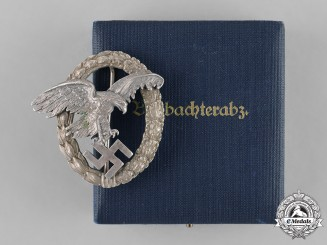 "Germany, Luftwaffe. An Observer's Badge by C.E. Juncker, ""Thin Wreath"" Version"
