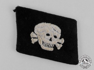 Germany. A Single Waffen-SS Totenkopfverband Collar Tab; First Pattern