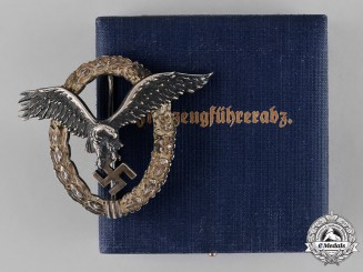 Germany, Luftwaffe. A Pilot's Badge, by C. E. Juncker, c.1937