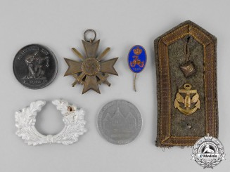 Germany. A Lot of Six First and Second War Period Medals and Insignia