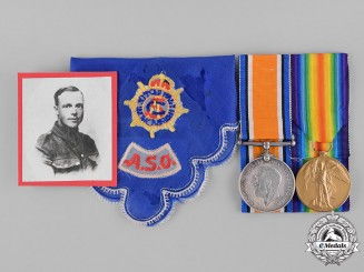 United Kingdom. A First War Pair, to Private William Tinsley, Army Service Corps