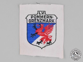 Germany, Weimar. A Stahlhelm Pommern-Grenzmark Sleeve Patch