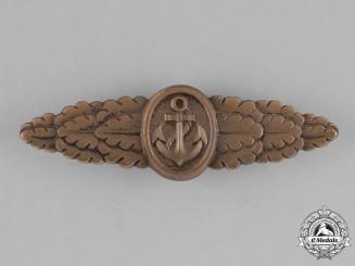 Germany, Federal Republic. A Naval Front Clasp, Bronze Grade, Alternative 1957 Version