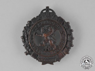 "Canada. A First War 43rd Infantry Battalion ""Cameron Highlanders"" Cap Badge"