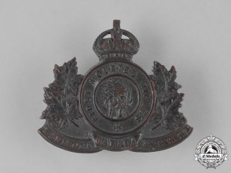 Canada. A First War 1st Mounted Rifle Battalion Cap Badge