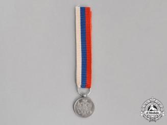 Montenegro, Kingdom. A Miniature Montenegrin Silver Bravery Medal