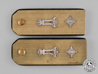 Yugoslavia, Kingdom. An M39 Royal Yugoslav Army Pair of Shoulder Boards, King's Guard Lieutenant