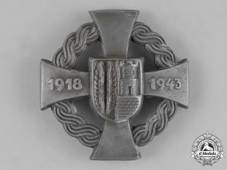 Croatia. A Commemorative Badge for the Annexation of the Medjimurje province, Northern Croatia, 1943