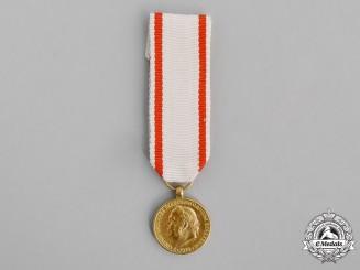 Montenegro, Kingdom. A Miniature King Nicholas I Fiftieth Jubilee Medal