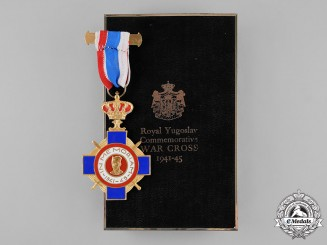 Yugoslavia, Kingdom. A Royal Yugoslav Commemorative War Cross 1941-45 with Case