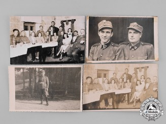 Croatia, Independent State. A Lot of 30 Private Photos of Domobrani, c.1942