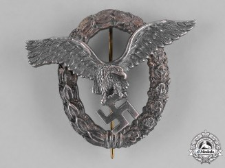 Germany, Luftwaffe. A Pilot's Badge by Brüderschneider AG