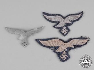 Germany, Luftwaffe. Three of Luftwaffe Eagle Insignia