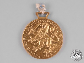 Germany, Weimar. A Bavarian Warrior League 50th Anniversary Medal