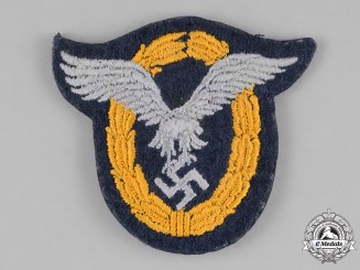 Germany, Luftwaffe. A Luftwaffe Combined Pilot's and Observer's Badge, Cloth Version