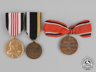 Prussia and Austria, Imperial. A Group of Three Commemorative Medals