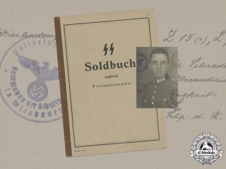 Germany, Police. An SS Soldbuch To Wachtmeister of the Schutzpolizei Ludwig Planz, 1944