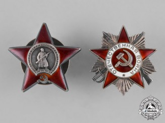 Russia (Soviet Union, USSR). Two Awards and Decorations