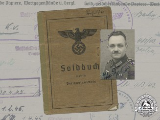 Germany, Heer. The Soldbuch Of Unteroffizier Otto Behr
