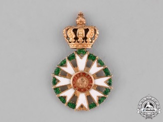 Bavaria, Kingdom. An Order of Merit of the Crown in Gold, Miniature, c.1870