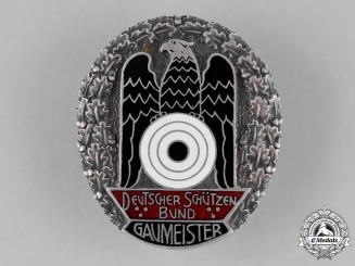 Germany, DSB. A Deutscher Schützenbund (German Shooting Federation) Gaumeister Badge, c.1931