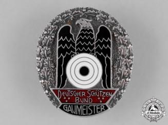 Germany, DSB. A Deutscher Schützenbund (German Shooting Federation) Gaumeister Badge, c.1931