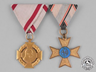Austria and Bavaria, Kingdoms. A Pair of Commemorative Medals