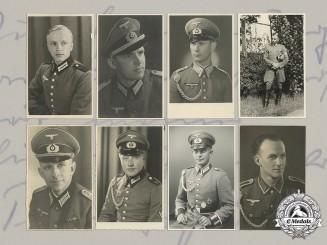 Germany, Third Reich. A Collection Of 25 Wartime Studio Portraits Of Heer, Police, and Kriegsmarine Men