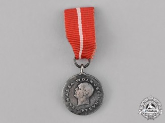 Poland, People's Republic. A Medal for Your Freedom and Ours, Miniature