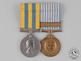 United Kingdom. A Korean War Pair, to Leading Seaman L. Hughes, Royal Navy