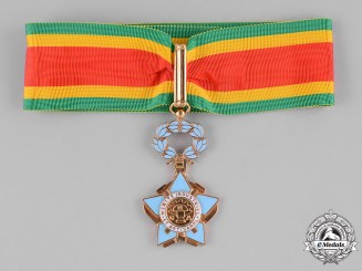 Central African Republic. An Order of Industrial and Artisanal Merit, III Class Commander, by Arthus Bertrand