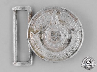 Germany, SS. A SS Officer's Belt Buckle by Overhoff & Cie