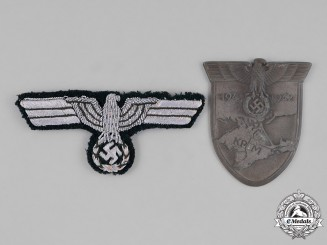 Germany, Wehrmacht. A Pair of Second War Period Wehrmacht Insignia