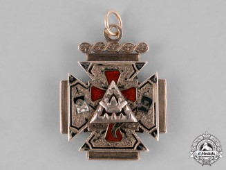 United Kingdom. A Gold 32nd Degree Scottish Rite Masonic Pendant