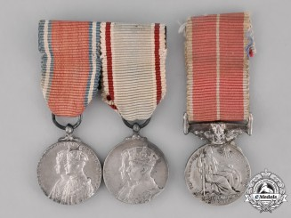 Great Britain. Three Miniature Medals