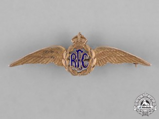 Great Britain. A First War Canadian-Made Royal Flying Corps (RFC) Sweetheart Badge