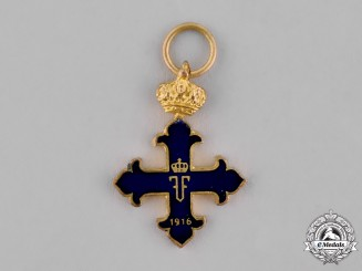 Romania (Kingdom). Order of Michael the Brave, Type I (1916-1941), Miniature