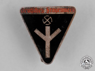 Germany, DF. A Deutsches Frauenwerk (German Women's Welfare) Membership Badge by Karl Wurster