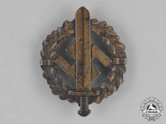 Germany, SA. A Bronze Grade SA Sports Badge by Sieper & Söhne
