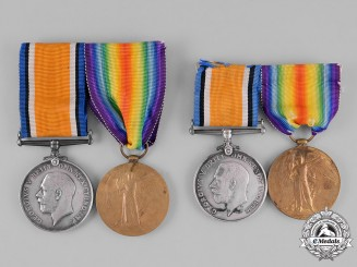 Canada. The First War Medals of Desmond & Vincent Brown, 19th Infantry & CMGB