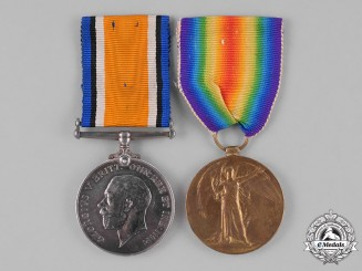 Canada. A Medal Pair to Lieutenant Wattam, 4th Battalion, Wounded in Action during the Battle of Amiens