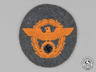 Germany, Ordnungspolizei. A Gendarmerie Sleeve Eagle, c.1940
