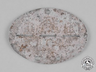 Germany, Heer. A Second War Period Heer (Army) Panzer Crewman's Identification Tag