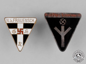 Germany, Third Reich. A Pair of Third Reich Period German Women's Organization Membership Badges