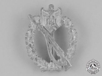Germany, Heer. A Silver Grade Infantry Assault Badge by C.E. Juncker