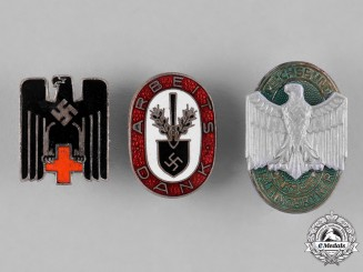 Germany, Third Reich. A Group of Third Reich Period Organization Membership Badges