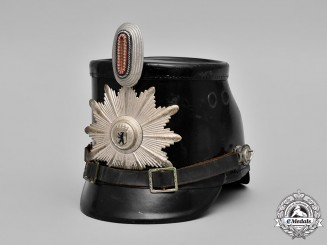 Germany, Schutzpolizei Berlin. A Post-War West Berlin Police Shako, c,1955